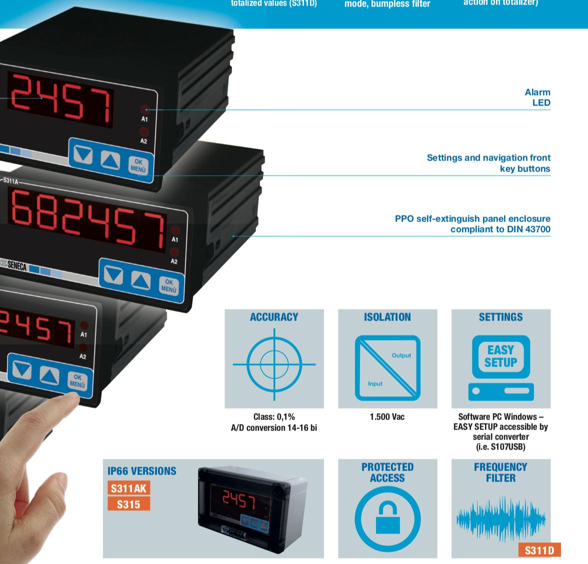 Cài đặt Ứng dụng Bộ hiển thị nhiệt độ cảm biến Pt100 bằng phím