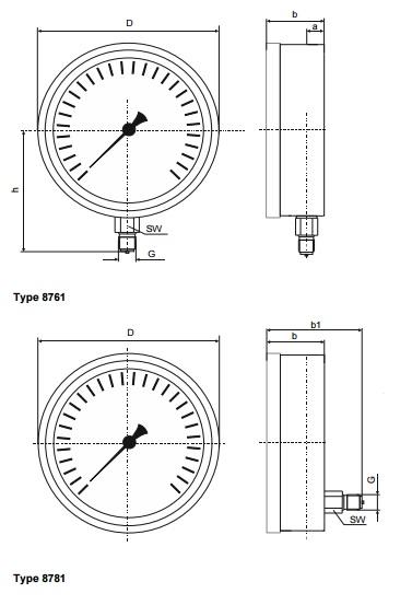 Đồng hồ đo áp suất khí 8761