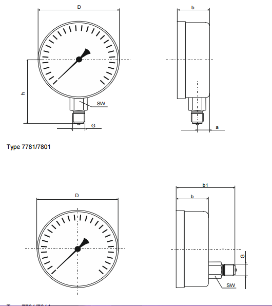 Đồng hồ đo áp suất khí 7791