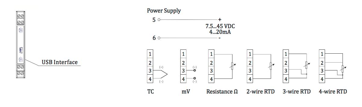 Cách đấu dây Bộ chuyển đổi tín hiệu trở sang dòng 4-20ma