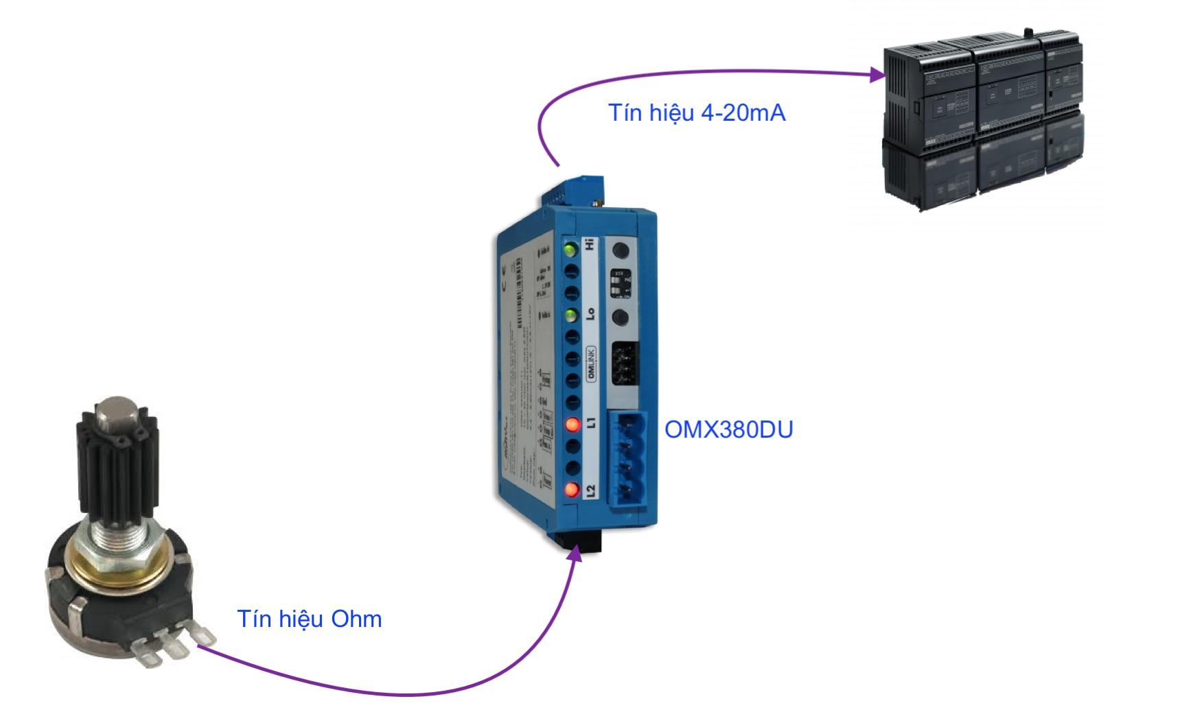 Bộ chuyển đổi điện trở sang 4-20mA hay 0-10v