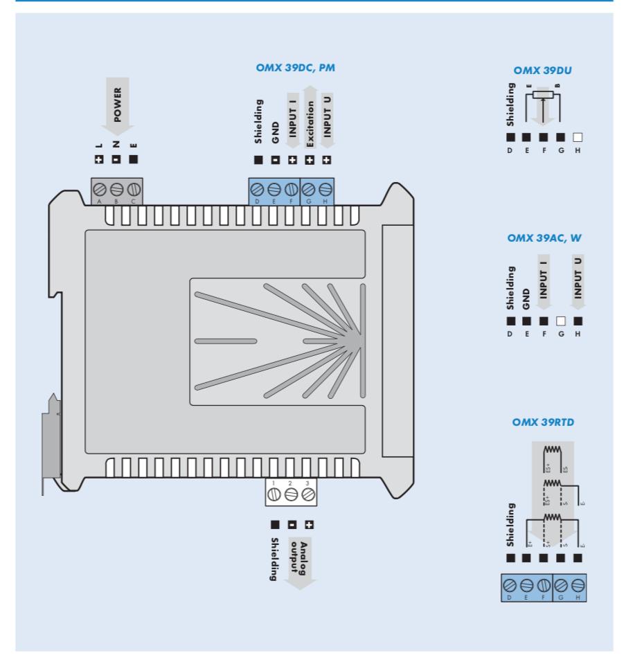 Sơ đồ đấu dây bộ chuyển đổi OMX39AC