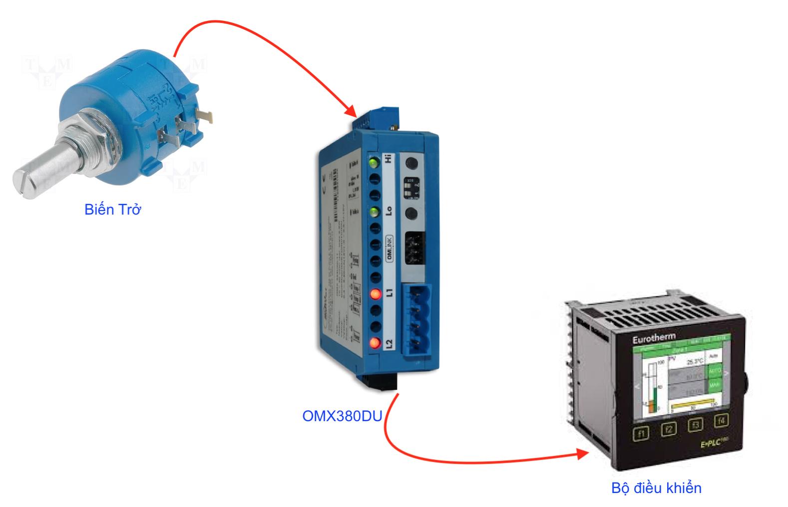 Bộ chuyển đổi điện trở và biến trở sang 4-20mA / 0-10v
