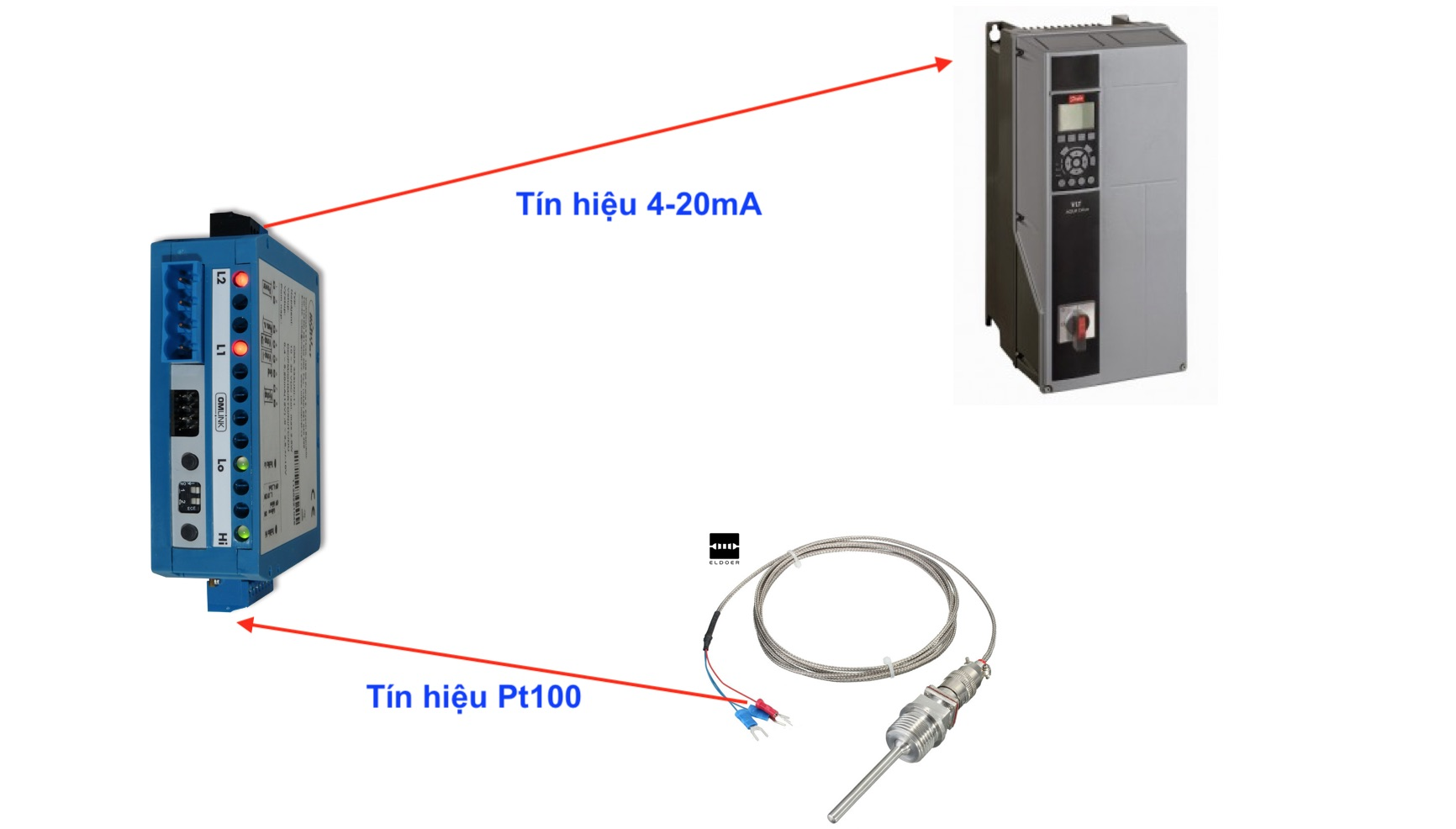 Bộ chuyển nhiệt độ Pt100 ra 4-20mA