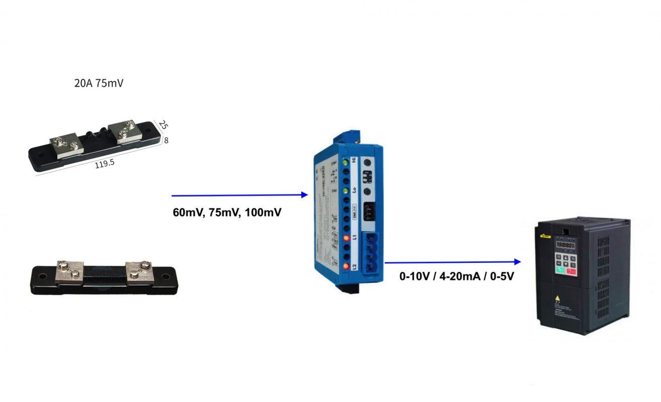 Bộ chuyển Shunt ra Analog 0-10V / 4-20mA