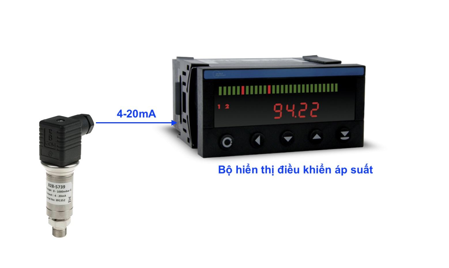 Bộ hiển thị dùng kèm với cảm biến áp suất