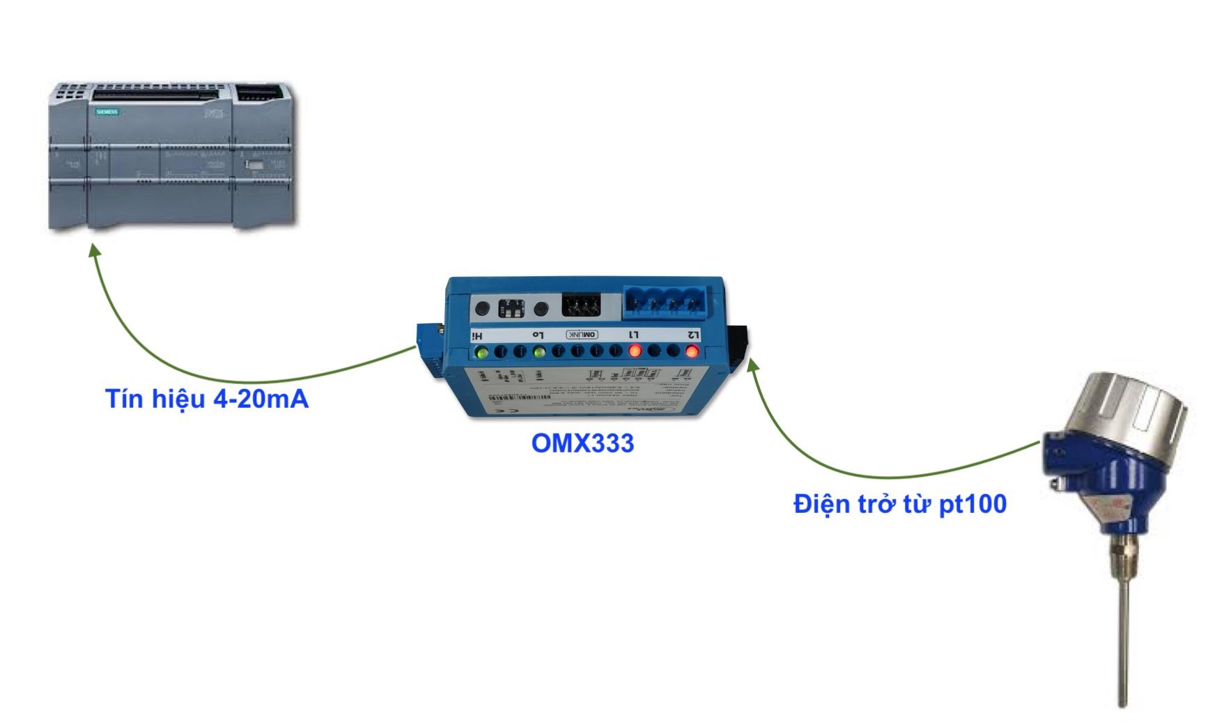 Thiết bị chuyển đổi tín hiệu Pt100 ra 4-20mA