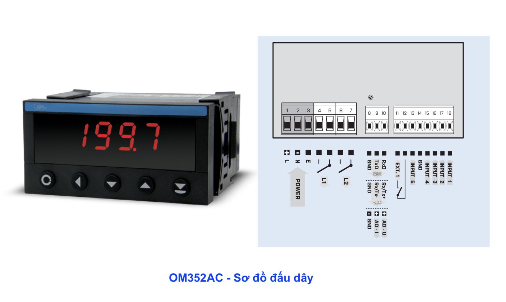 Bộ hiển thị dòng điện, điện áp OM352AC