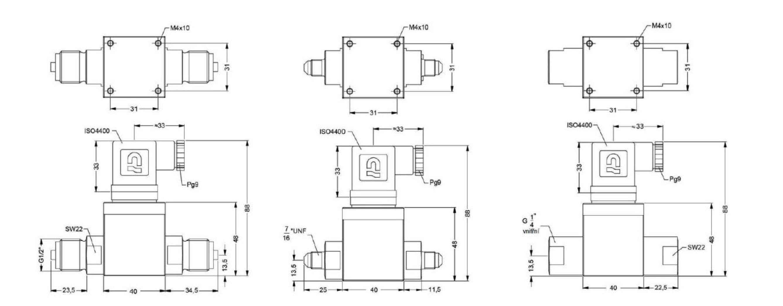 Kích thước của cảm biến đo chênh áp JSP