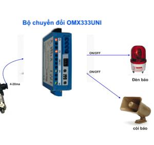 Chuyển đổi cảm biến áp suất ngõ ra Relay