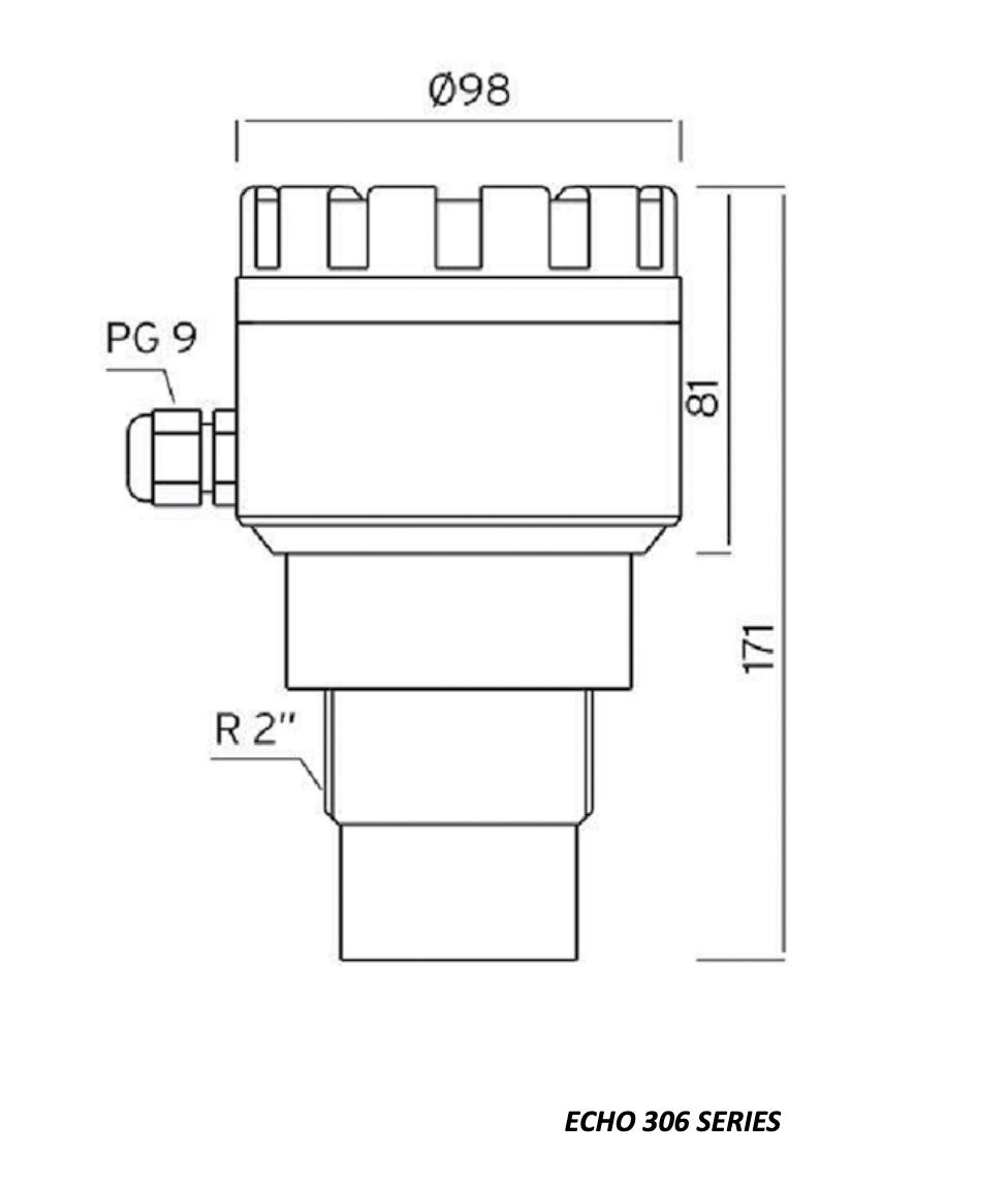 Sensor đo mức nước siêu âm ECH306